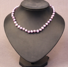 Simple Trendy Style Natural Violet Color Potato Pearl Necklace