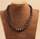 Best Mother Gift Graceful 10-11mm Natural Coffee Pearl Party Necklace