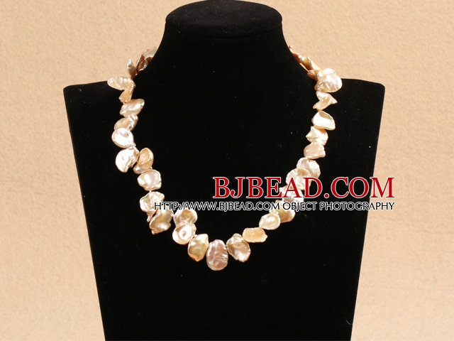 Special Beautiful Gift Flower Shape A Grade Pink Rebirth Pearl Party Necklace