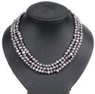 Lang Style lysegul farve Akryl og Crystal Halskæde med Black Ribbon Flower
