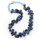 Dark Blue Series Onregelmatige vorm Top geboord Lapis en Blue Crystal Ketting