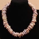 Assorted Multi Layer Multi Color Freshwater Pearl Necklace with Metal Chain