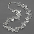 New Design Assorted Multi Shape Top Drilled Clear Crystal Necklace under $ 40