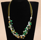 Single Strand A Grade Round Malachite Beaded Knotted Necklace