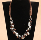 Fashion Brown Series Crystal Seashell Beads Necklace