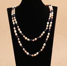 Chic Long Style Natural Multi Color Freshwater Pearl Necklace Best Gift under $ 30