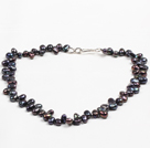 Special Design Natural Black Freshwater Pearl Necklace