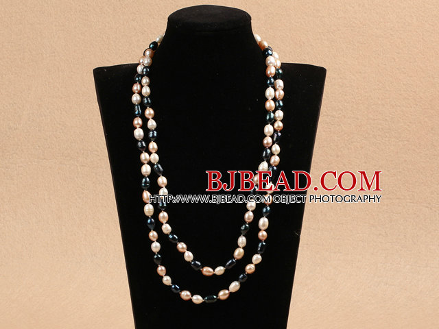 Chique Lange Style 78mm Natuurlijke Multi Color Freshwater Pearl Necklace Best Gift