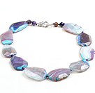 Classic Design Multi Color Faceted Agate Chunky Necklace