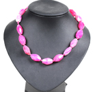 Simple Classic Design Impulse Angle Rose Red Agate Choker Necklace