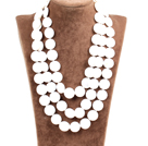 Nice Multi-Strand Natural White Freshwater Pearl And Aventurine Beaded Neckalce (No Box)