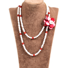 Fantastic Three Strands Natural Multi Color Blister Pearl Beads Necklace With Butterfly Shell Clasp