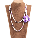 Fantastic Three Strands Natural Mixed Color Blister Pearl Beads Necklace With Butterfly Shell Clasp