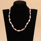 Best Mother Gift Graceful Natural Purple Rebirth Pearl Party Necklace