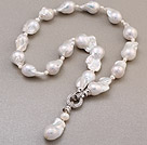 Fashion Natural White Nuclear And Freshwater Pearl Pendant Charm Necklace