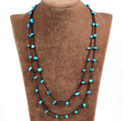 Pretty New Long Style Blue Turquoise Chips Necklace(Also can be Bracelet)