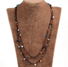 Pretty New Long Style Multi Color Round Gemstone Beads Necklace(Also can be Bracelet)