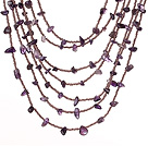 Beautiful Fashion Multi Layer Amethyst Party Necklace under $ 40