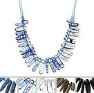 5 Pcs Vintage Style Teeth Shape Multi Stone Shourouk Necklace