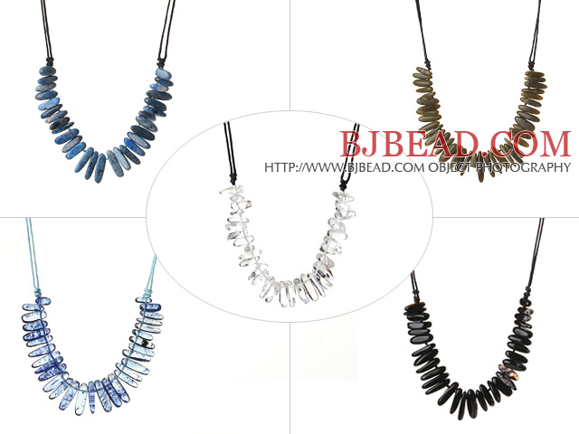 5 Pcs Vintage Style Teeth Shape Multi Stone Shourouk Necklace