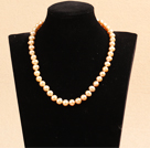 Best Mother Gift Graceful 9-10mm Natural Pink Freshwater Pearl Party Necklace