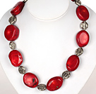 Hanmade Red Coral Necklace with Tibetian Silver Accessories