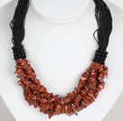 Negrita Collar Multi Strands Oro Arenisca Necklace
