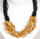 Negrita Collar Multi Strands Amarillo Jade Necklace