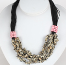Negrita Collar Multi Strands Leopard punto Necklace