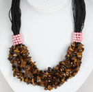 Negrita Collar Multi Tigre Strands Ojo Necklace