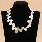 Special Beautiful Gift Flower Shape A Grade White Rebirth Pearl Party Necklace