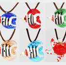 6 PC Tropical Fish collares pendientes botella de perfume (color al azar y forma)