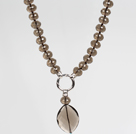 Fashion Style Natural Smoky Quartz Pendant Necklace