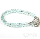 Classic Design Faceted Blue Crystal Stretch Bangle Bracelet