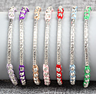 Fashion Style Multi Color Rhinestone and Tungsten Steel Stone Drawstring Bracelet