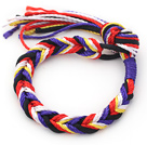 Simple Style Multi Color Thread Adjustable Woven Wish Bracelet