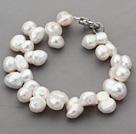 Single Strand Top Drilled Cucurbit Shape Freshwater Pearl Bracelet