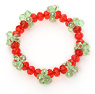 2013 Christmas Design Red and Green Crystal Stretch Bracelet