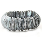 Classic Design Gray Color Trochus Shell Stretch Bracelet