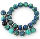 Beautiful 12-14mm Multi Color Round Xingjiang Agate Beaded Bracelet