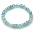 2014 Summer Fashion A Grade Faceted Aquamarine Elastic Bracelet
