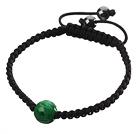 Populaire Gesneden Green Jade En Hand - geknoopt Zwarte koord armband menos de 2 euros