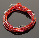 Summer Lovely Handmade Multi Strands Mini Red Crystal Beads Bracelet