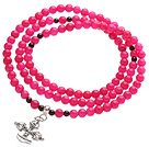 Classic Design Multi Strands Round Rose Red...