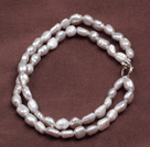 Elegant Double Layer Natural Gray Freshwater Baroque Pearl Bracelet