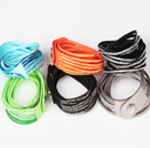 6 Pieces Fashion Style Solid Color Slake Bracelet for Women