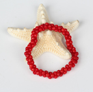 Red Coral 5*8mm Beads Bangle Bracelet under $ 40