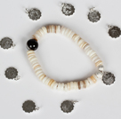 12 Pieces Constellatory Bracelets Shell and Tiger Eye Bracelet under $ 40