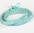 4mm Candy Jade Beads Four Times Wrap Bangle Gracelet