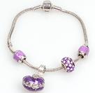 Fashion Style Purple Color Charm Bracelet with Wish Box Pendant